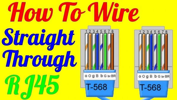 How To Make Straight Through Cable Rj45 Cat 5 5e 6 ( Wiring