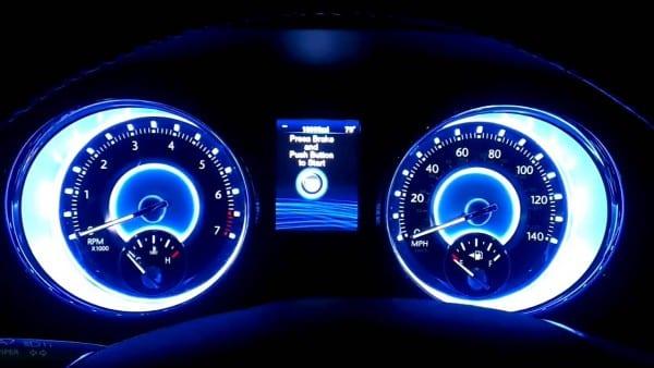 Chrysler 300 Dash Startup At Night
