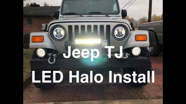 Led Halo Headlight Install Jeep Tj