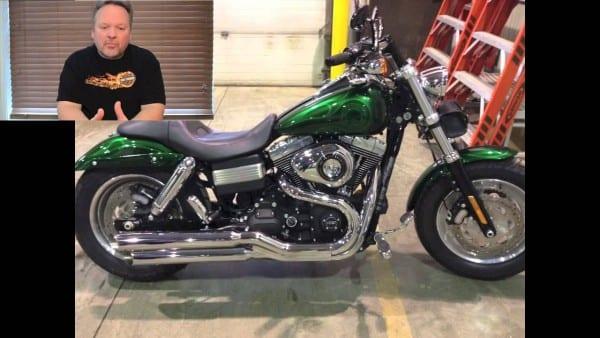 Harley Fat Bob Custom Rear Fender Modification