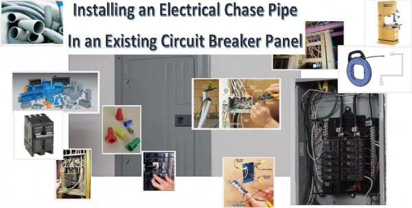 How To  Install An Electrical Chase Pipe Into An Existing Circuit
