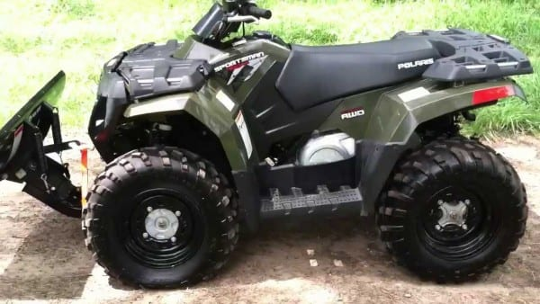 Like New 2009 Polaris Sportsman 400 With Winch And Plow