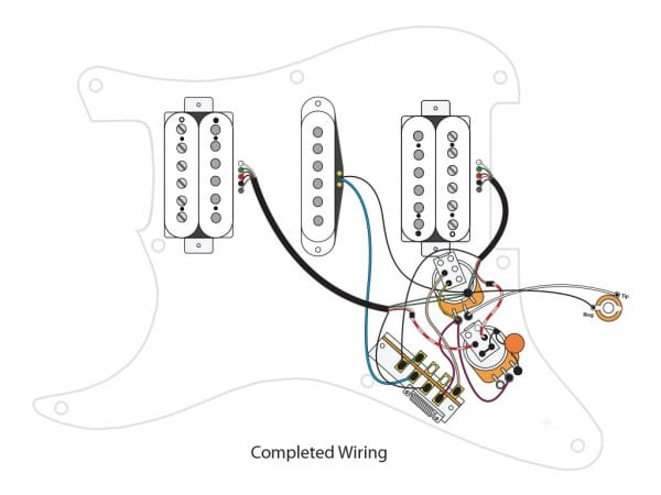Hsh W  Master Volume, Master Tone, Coil Split And 7