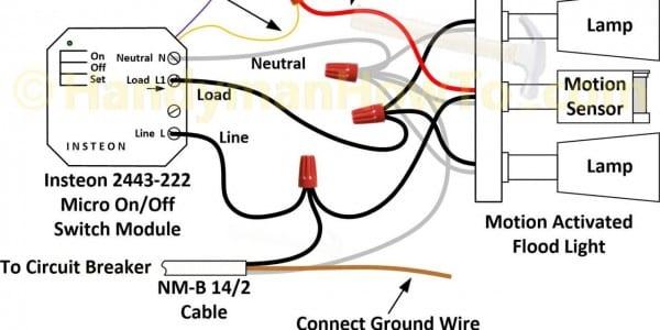 Motion Sensor Flood Light Wiring Diagram Led Pir Scheme Of Best