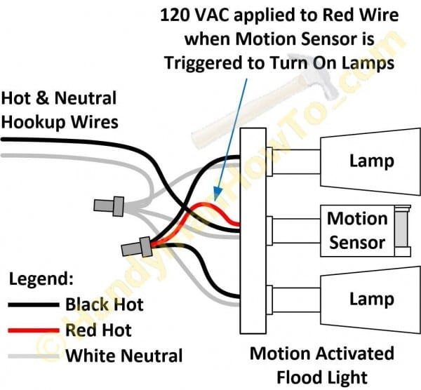 Wiring Diagram For Motion Flood Light