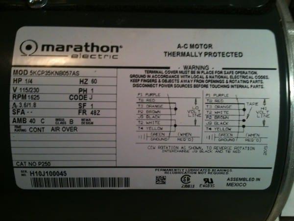 Marathon Electric Motor Wiring 3 Phase