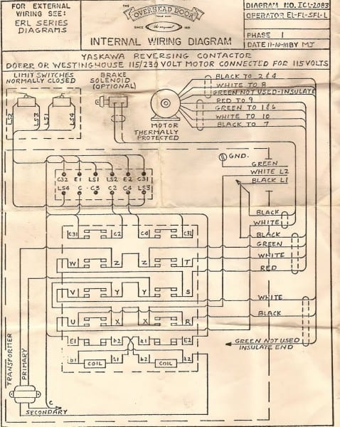 Sears Garage Door Opener Wiring Diagram