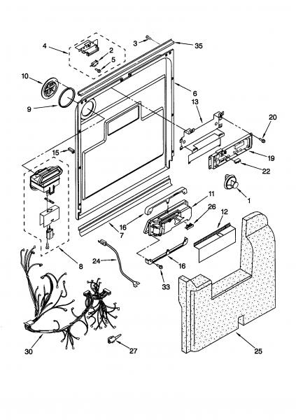Repair Kitchenaid Dishwasher Parts Diagram
