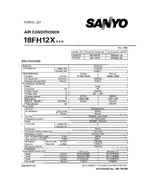 Sanyo 18fh12x