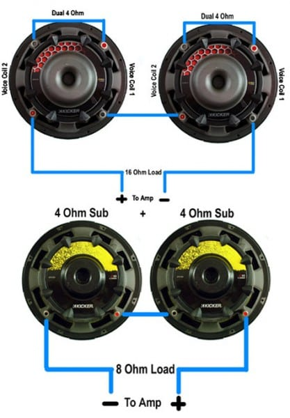 8 Ohm Subwoofer Wiring