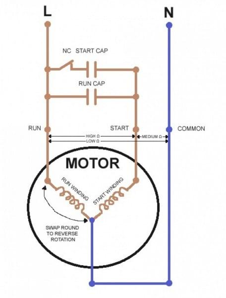 Single Phase Capacitor Start Run Motor Wiring Diagram Techrush Me