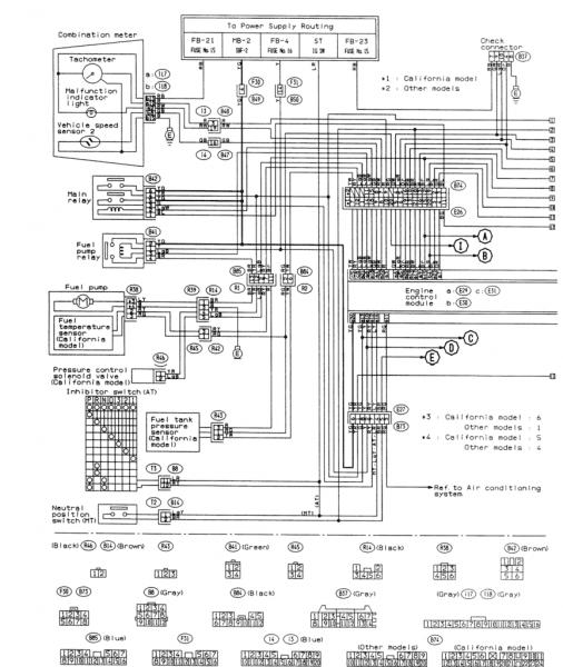 Subaru Wrx Engine Wiring Diagram Forester 2 0 1993 1 For Subaru