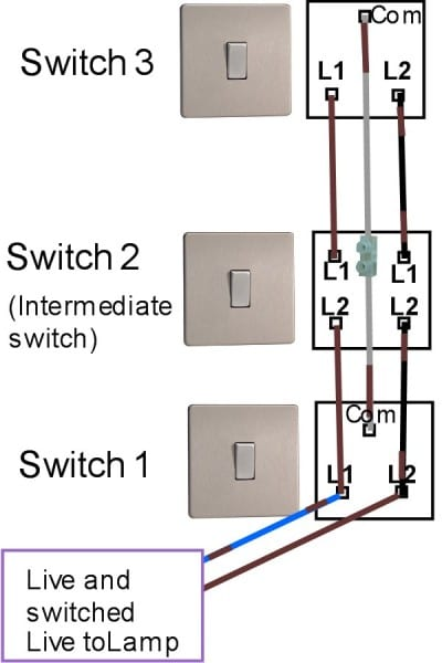 Intermediate Switch Wiring Diagram Uk