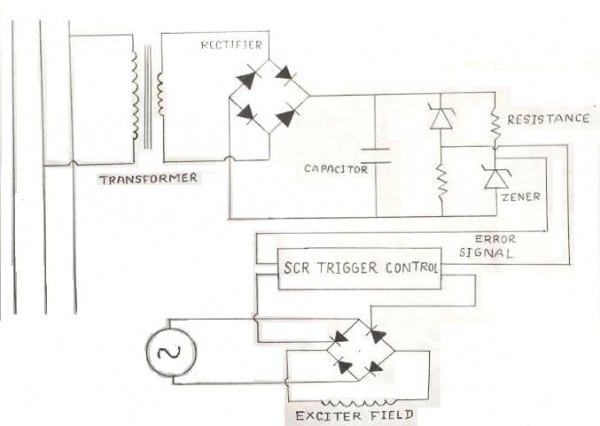Auto Voltage Regulator Schematic