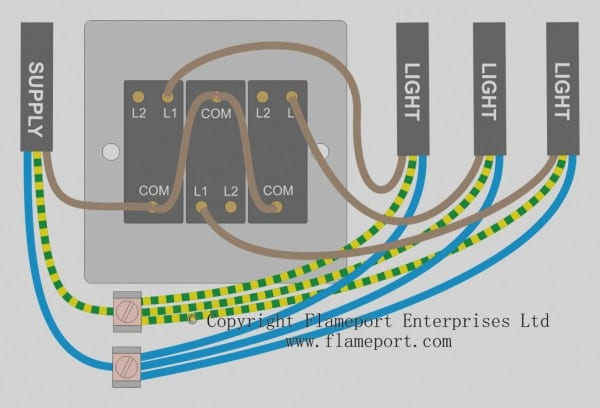 Trend 3 Gang Switch Wiring Diagram For A Single Loft Or Garage