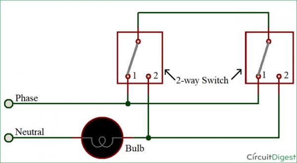 Circuit Diagram 2 Way Switch