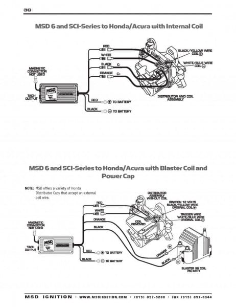B16a Wiring Diagram For Msd Coil On My