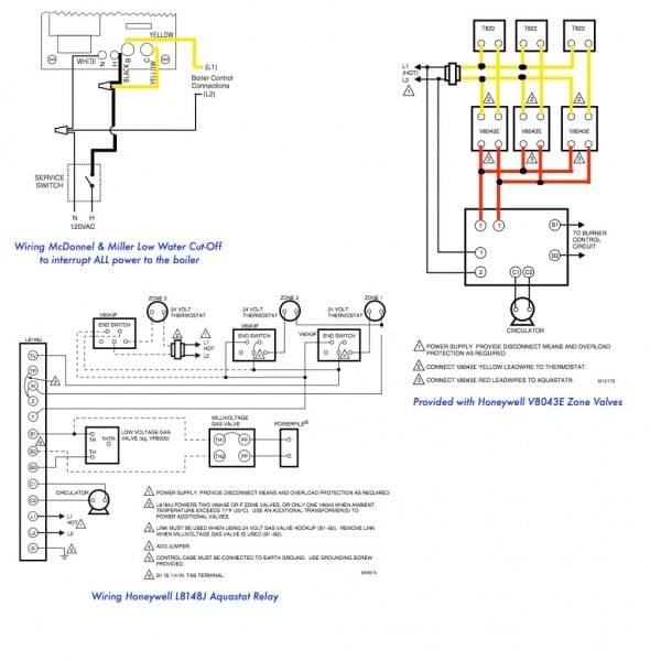 Hydronic Zone Valve Wiring Diagram For Honeywell ... on