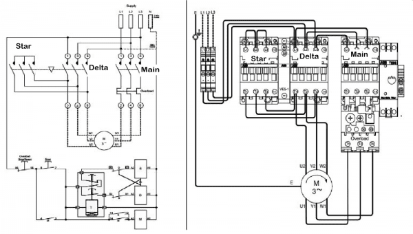Star Delta Starter Wiring Diagram