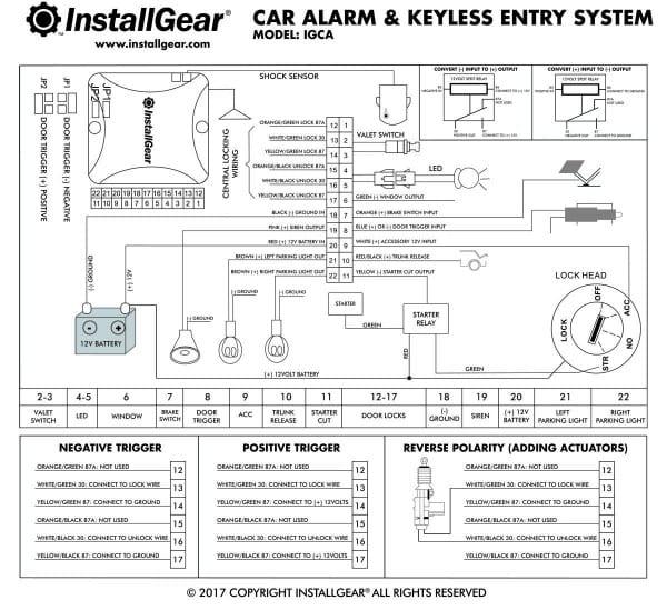 Wiring Diagram Keyless Entry Com Installgear Car Alarm Security
