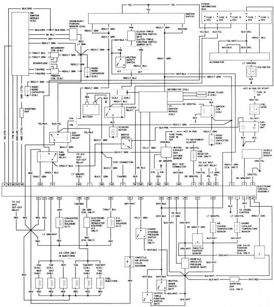 1984 Ford Mustang Fuel Pump Wiring Diagram