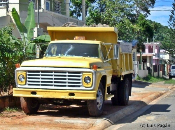 Yellow Ford F700 Dump Truck By Mister