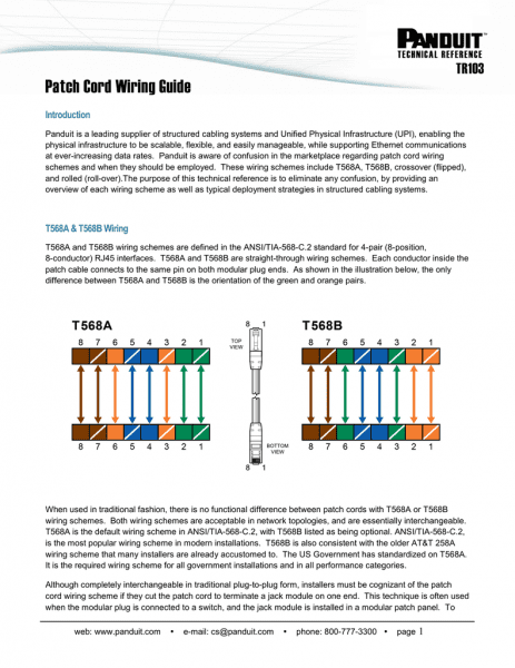 Patch Cord Wiring Guide