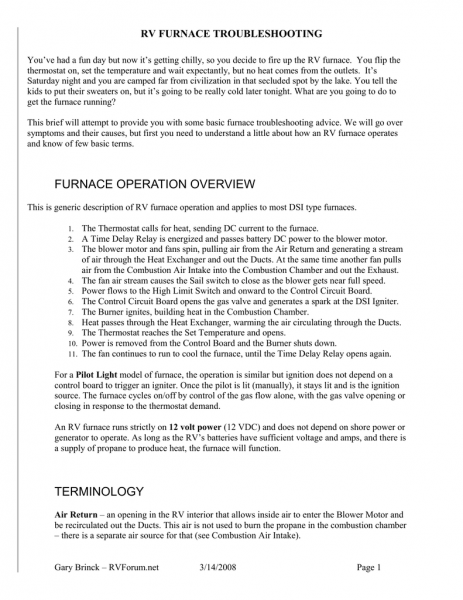 Furnace Operation Overview