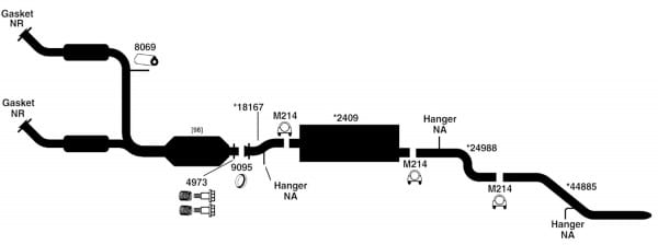Ford Explorer Exhaust Diagram From Best Value Auto Parts