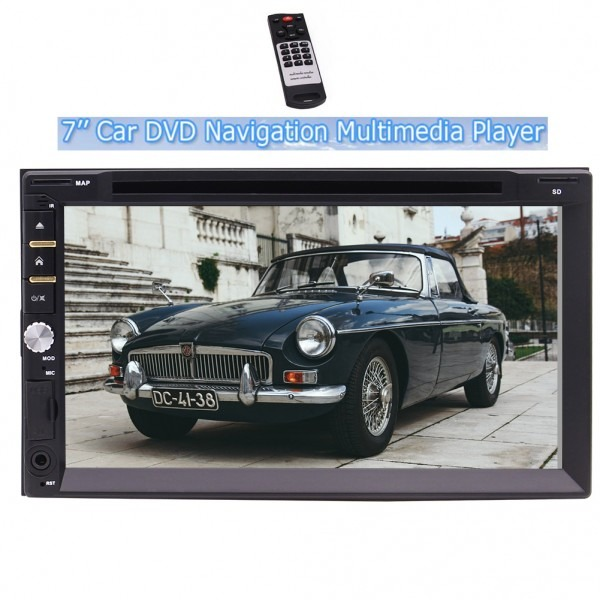 7'' Car Dvd Cd Double 2 Din Player Car Stereo With Wince Operation