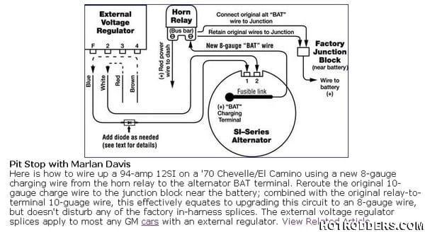 Gm External Voltage Regulator Wiring Diagram