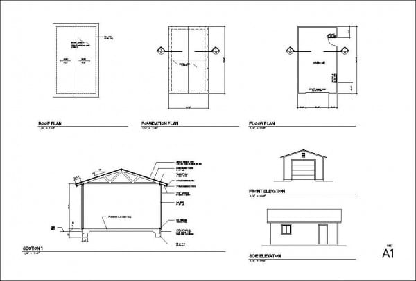 1 2 3 4 Car Garage Blueprints