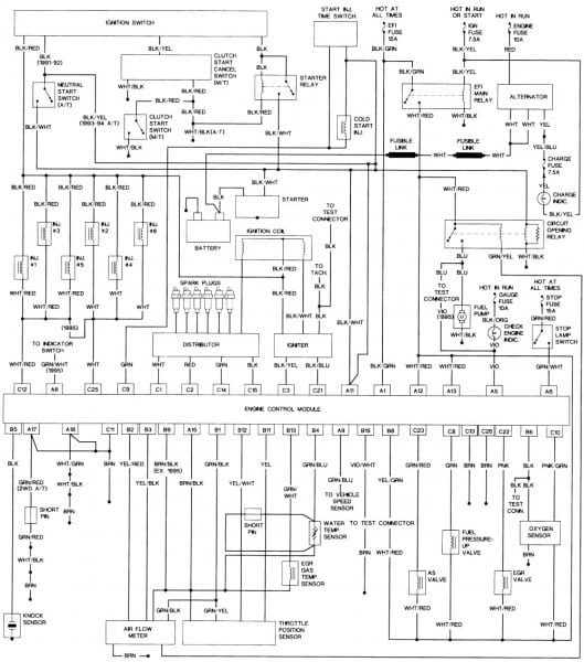 1990 Toyota Camry Wiring Diagram