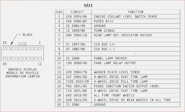 1993 Jeep Cherokee Radio Wiring Diagram
