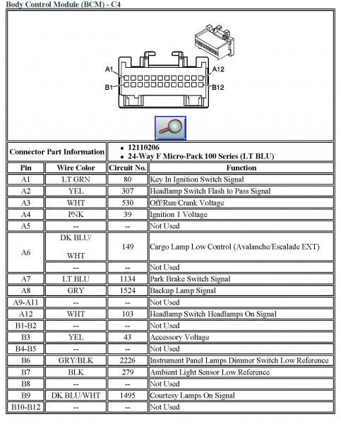 2003 Chevy Silverado Radio Wiring Diagram