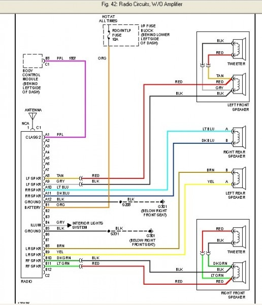 2000 Cavalier Stereo Wiring Diagram