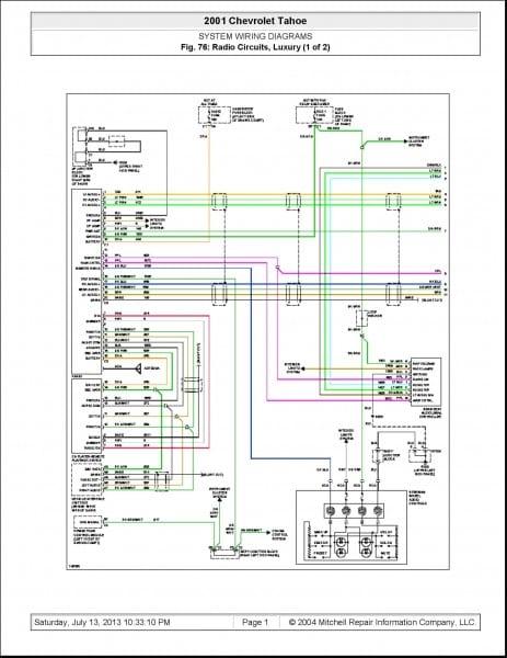 2008 Chevy Impala Radio Wiring Diagram Simple 2004 Chevy Tahoe