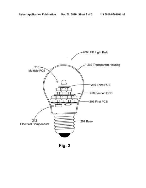 Led Light Bulbs In Pyramidal Structure For Efficient Heat