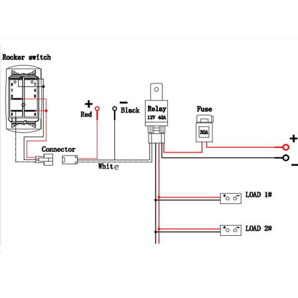 Matcc 12v 300w Led Rocker Switch Light Bar Wiring Harness On Off