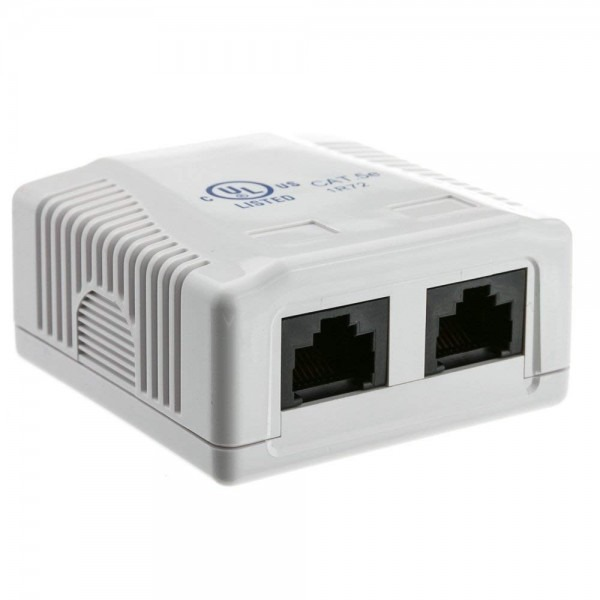 Amazon Com  Rj45 2 Port Wall Mount Biscuit Network Ethernet Utp