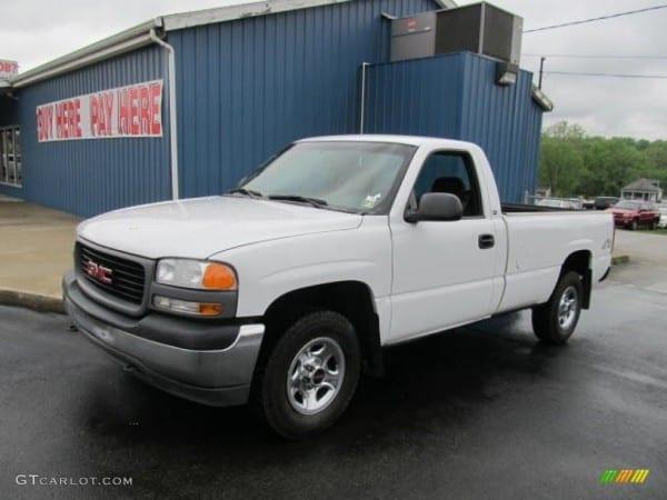 2001 Arctic White Gmc Sierra 1500 Sle Regular Cab 4x4  64870533