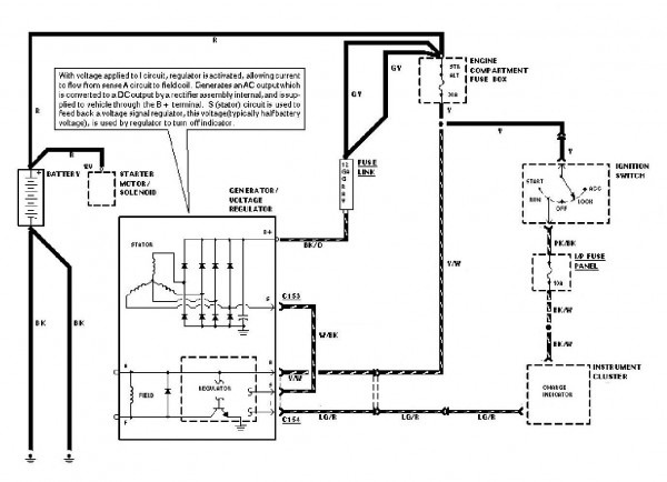 Wiring Diagram Internal Regulator Alternator
