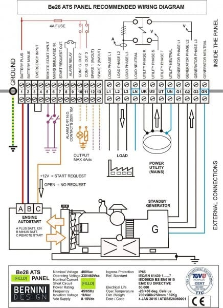 Generac Automatic Transfer Switch Wiring Diagram And Generator