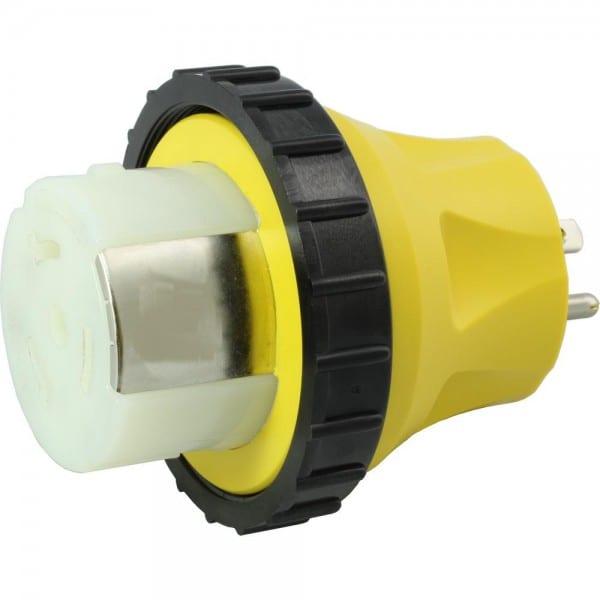 Ac Works Rv Marine Adapter Regular Household 15 Amp Plug To 50 Amp