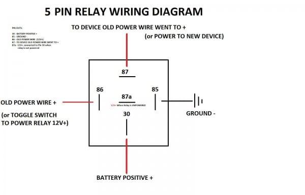 5 Pole Relay Wiring Diagram