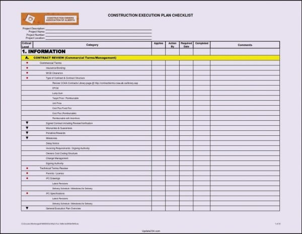Building Maintenance Checklist Template Free