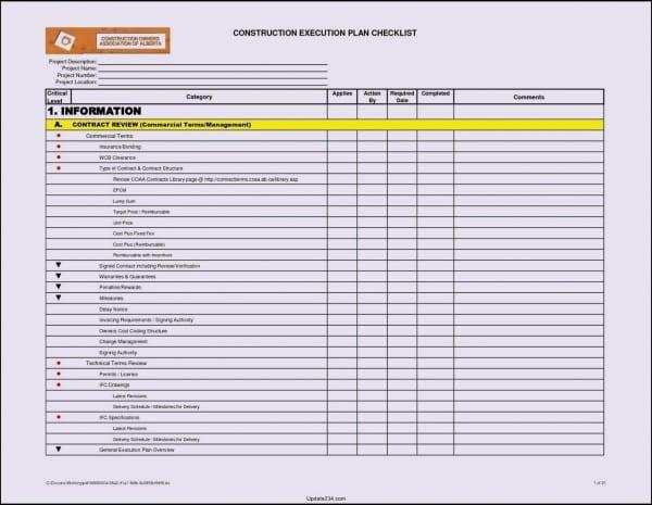 Building Maintenance Checklist Template Free
