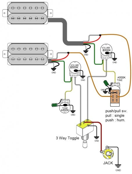 Guitar Wiring Diagrams 2 Pickups