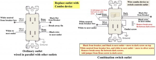 Combination Light Switch Wiring Diagram