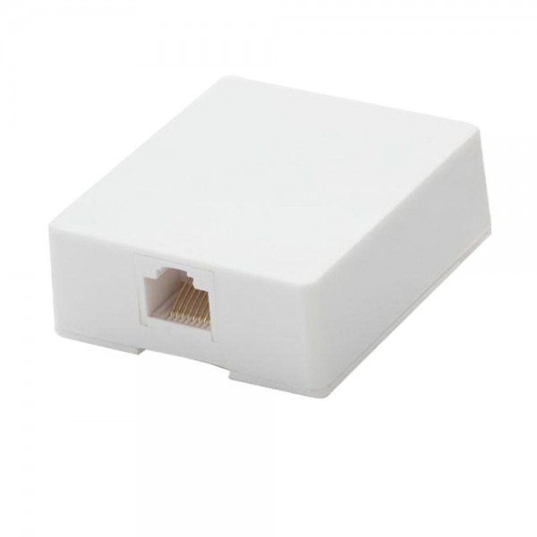 Commercial Electric Surface Mount Ethernet Jack, White